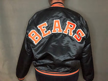 Load image into Gallery viewer, Vintage Chicago Bears Chalk Line Satin Bomber SPELL OUT - L