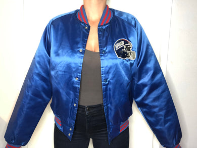 New York Giants Chalk Line Satin Bomber - XL