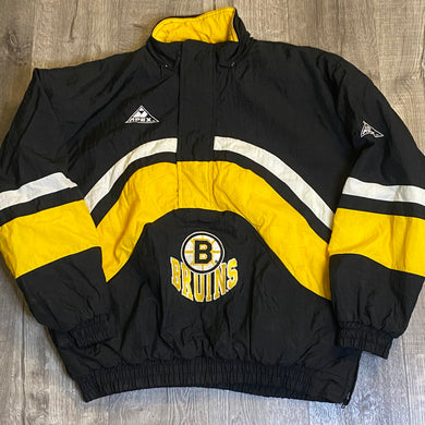 Vintage Early 90s Boston Bruins Apex One Kangaroo Pullover Puffer - L/XL