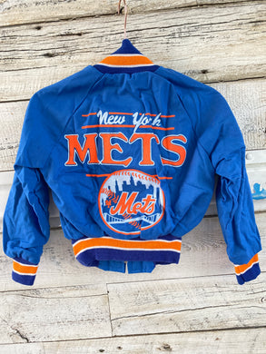 Vintage New York NY Mets Baby Bomber Jacket - Size 5