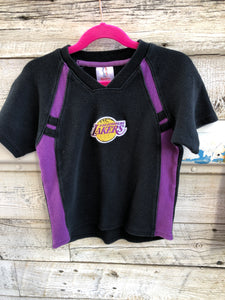 Vintage 90s Los Angeles LA Lakers Kids Short Sleeve Sweat Outfit - 4T
