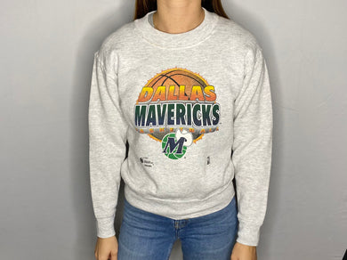 Vintage 90s Dallas Mavericks Old Logo Crew / Youth Medium / Adult XS