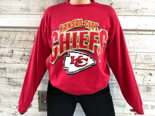 Load image into Gallery viewer, Vintage 90s Kansas City Chiefs Logo 7 Crew - L