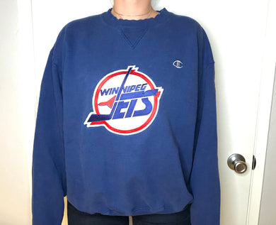 Vintage Winnipeg Jets Champion Crewneck - XL