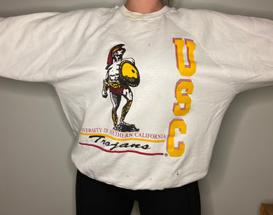 Vintage 90s USC University of Southern California Trojans Crew - XL
