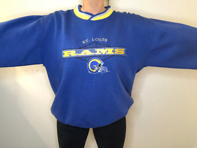 Vintage 90s St Louis Rams Crew from STARTER - XL