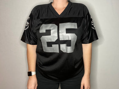 Oakland Raiders x Charlie Garner #25 2001-2003 Reebok JERSEY - Youth XL / Adult S