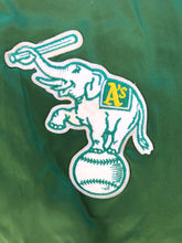 Load image into Gallery viewer, Vintage Oakland A's Athletics Locker Line Satin Bomber - L