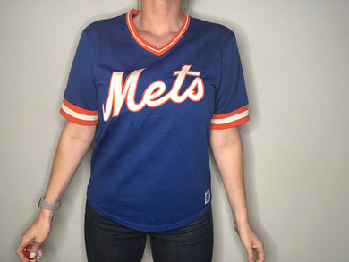 Vintage 1980s New York Mets Sand Knit JERSEY - S