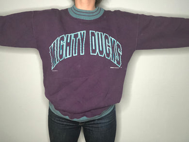 Vintage 1990s Mighty Ducks Nutmeg Crewneck - L