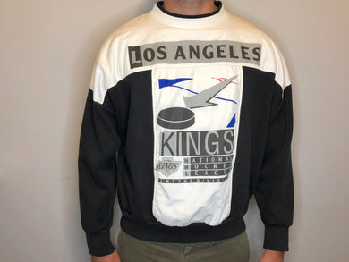 Vintage 1990s Los Angeles Kings Color Block Crew - L/XL