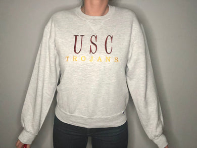 Vintage University of Southern California USC Trojans Crew - L
