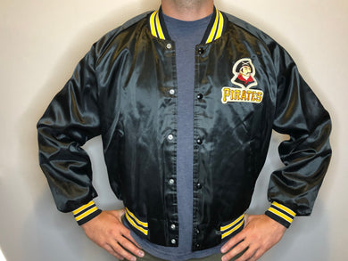 Vintage Pittsburgh Pirates Satin Bomber Jacket - XL