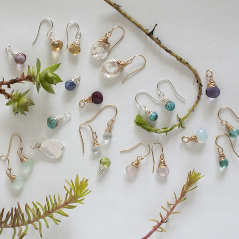Gem Earrings and Charms