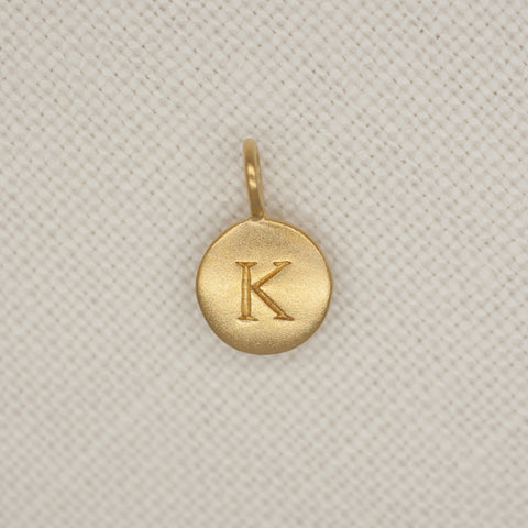 Gold Dipped Initial Pendant Wholesale