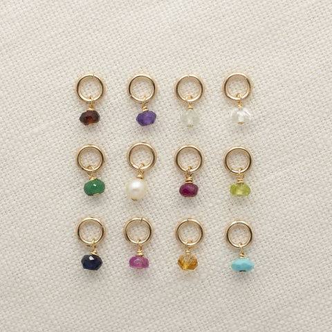 Mini Gold Birthstone Charms Wholesale