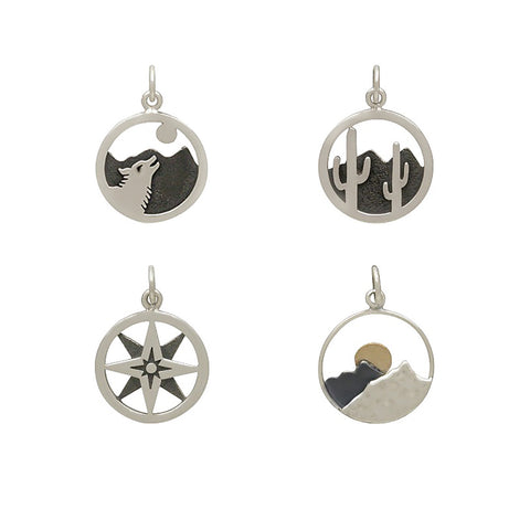 Happy Place Adventure Charms II Sterling Silver