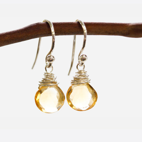 Citrine Wire Earrings Wholesale