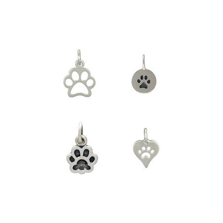 Sterling Silver Paw Charms Wholesale