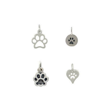 Sterling Silver Paw Charms