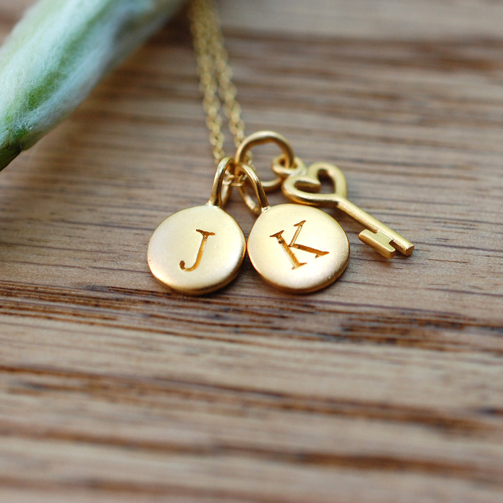 Gold dipped initial pendant with 18 chain wallin buerkle gold dipped initial pendant with 18 chain aloadofball Image collections