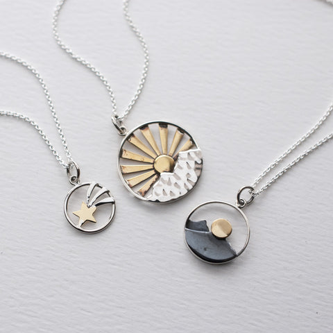 Sunshine Mountain Pendant Necklaces Wholesale