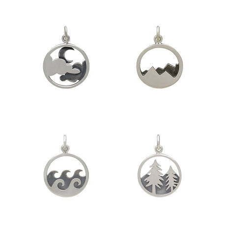 Happy Place Adventure Charms Sterling Silver