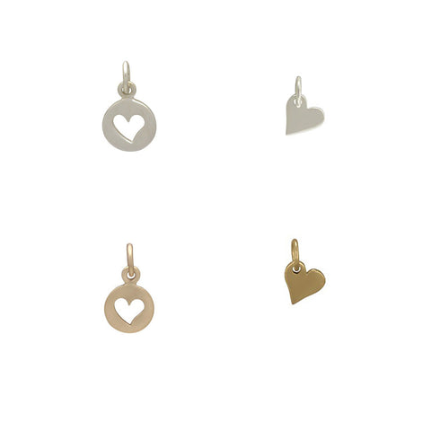 Mini Heart Pendant Charms Wholesale