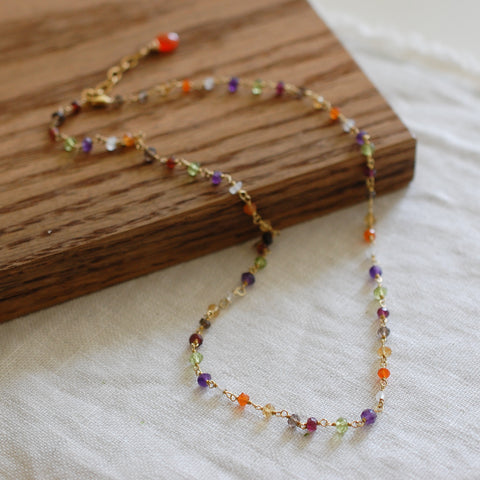 Mixed Gem Necklace