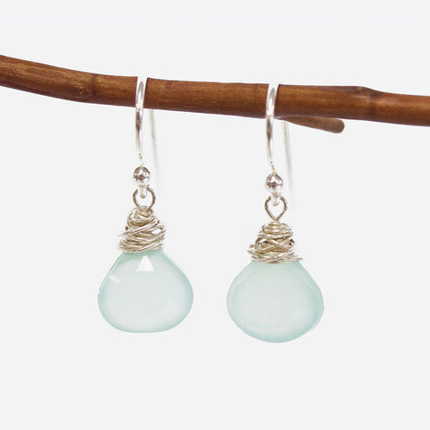 Peruvian Chalcedony Earrings Wholesale