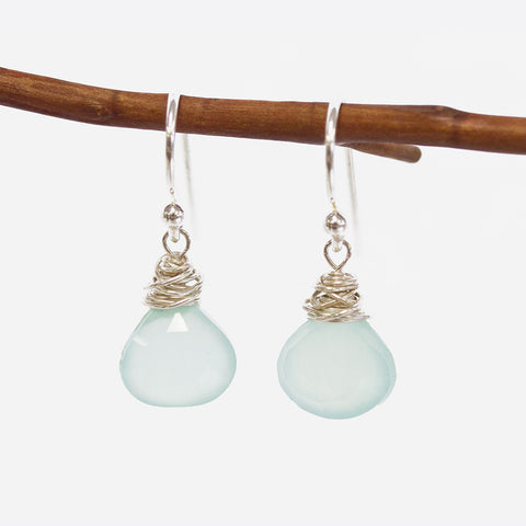 Peruvian Chalcedony Earrings
