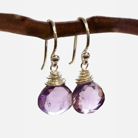 Amethyst Wire Earrings Wholesale