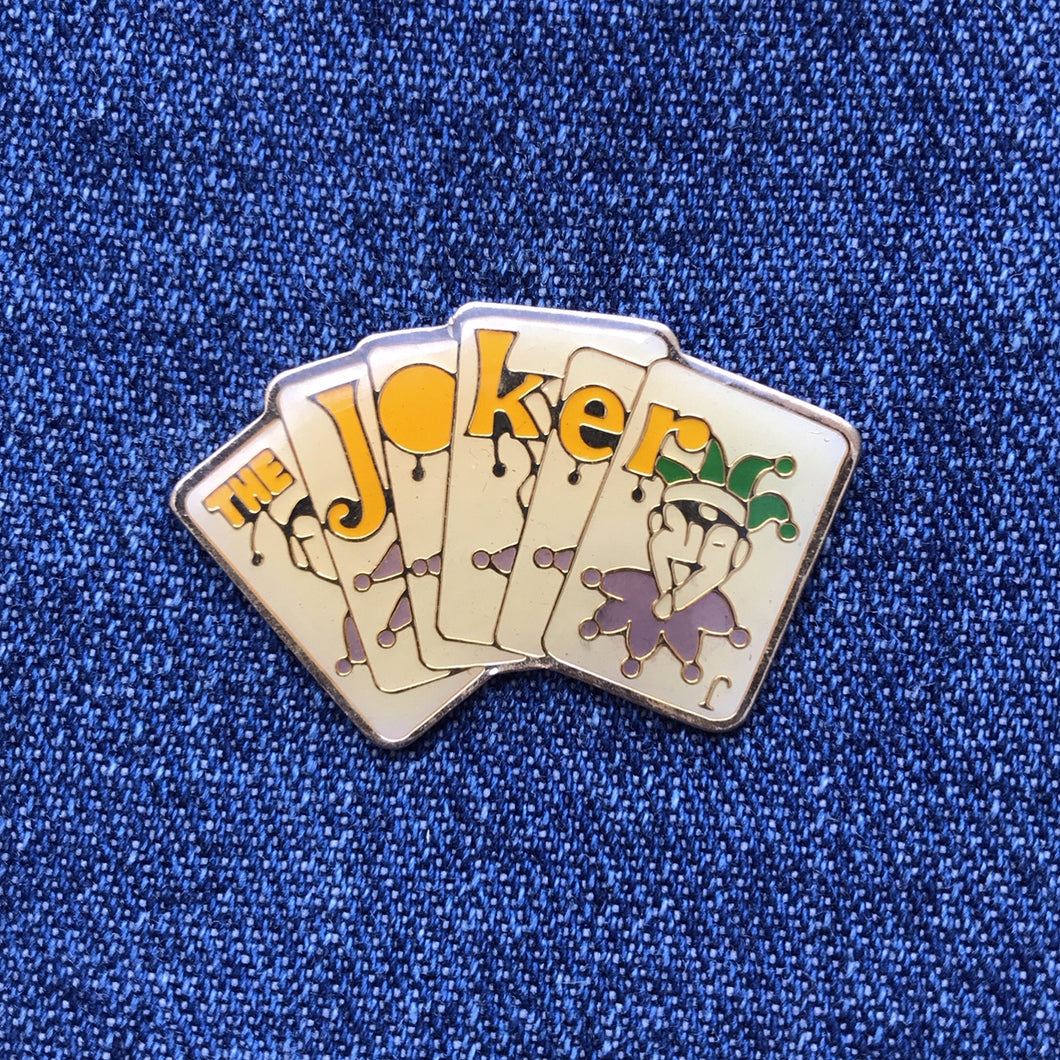 BATMAN THE JOKER 80'S PIN