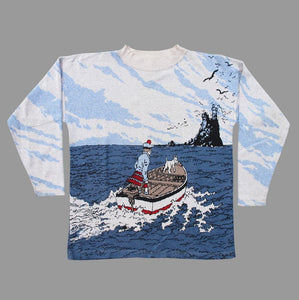 TINTIN 'BLACK ISLAND' 90'S SWEATER