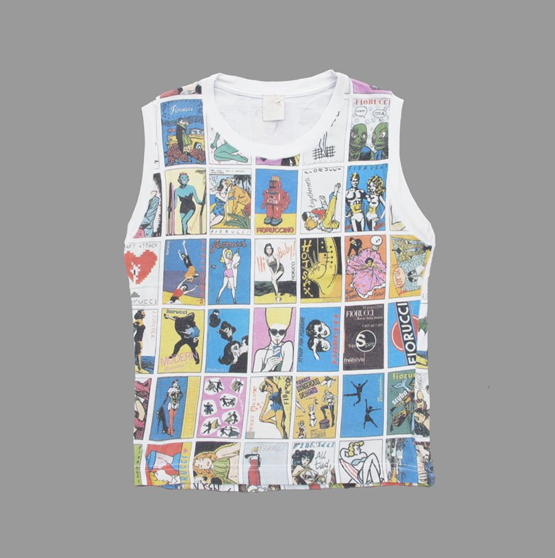 FIORUCCI COMIC STRIP 80'S TOP