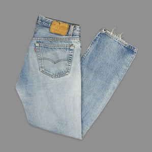 LEVI'S 501 70'S RIPPED W32 DENIM