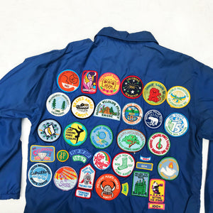 GIRL SCOUTS 80'S PATCHED JACKET