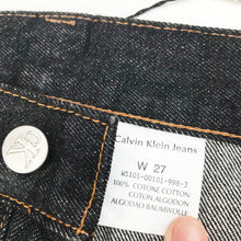 Load image into Gallery viewer, CALVIN KLEIN SELVEDGE DEADSTOCK W29 JEANS