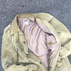 DIESEL 90'S LEATHER CAR COAT
