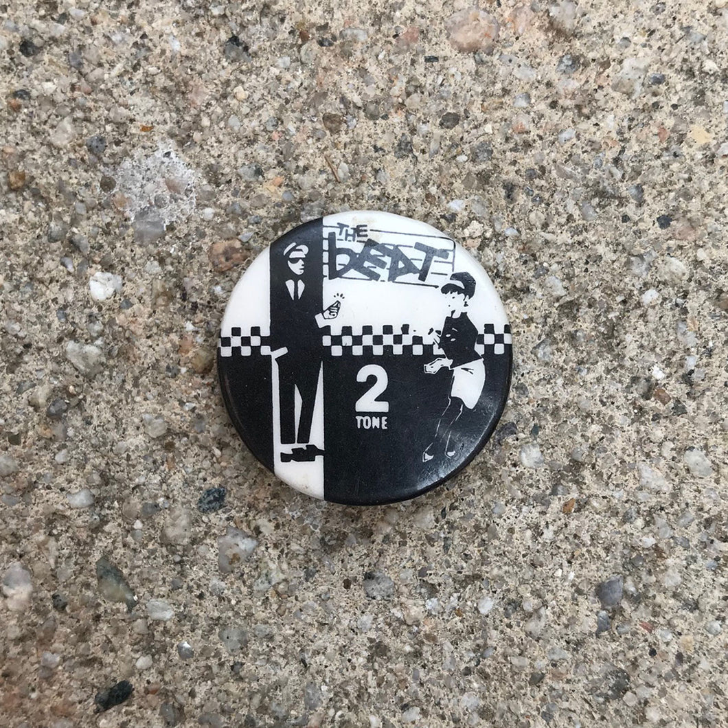 THE BEAT 2 TONE 80'S BUTTON BADGE