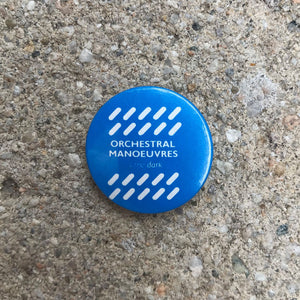 ORCHESTRAL MANOEUVRES IN THE DARK 80'S BUTTON BADGE