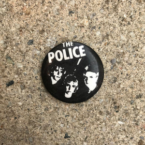 THE POLICE 80'S BUTTON BADGE