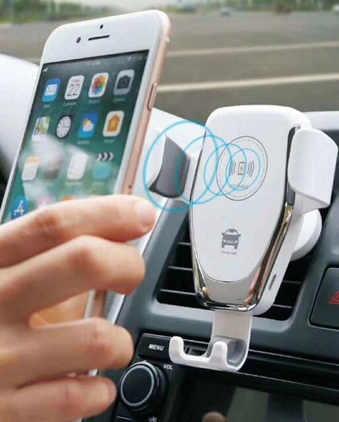 Vehicle Gravity Mobile Phone Universal Car Bracket Wireless Charger Automatic Clamping Fast Car Charging Phone Holder dfdf