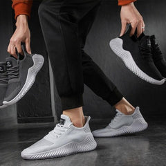 Hot Sale New Mesh Man Shoes Breathable White Men's Sneakers Lac-up Lightweight Black Walking Man Tenis Shoes Zapatillas Hombre