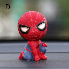 Car Cartoon Spiderman Model Cool Toy Resin Ornament Magnet Auto Interior Dashboard Decoration Doll Car Accessories Gift Trim