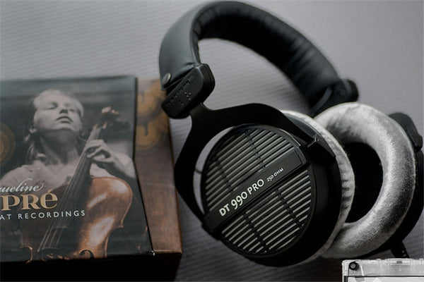 Beyerdynamic DT 990 Pro 250 Ohm Hi-Fi headphones, Professional Studio Headsets, Open Back Headband headpones Made in Germany