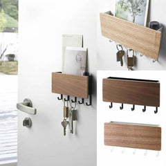 Key Hanger Decorative Simple Small Wall Hooks Space Saving Easy Install Home Vintage Wooden Door Back Storage Rack Holder