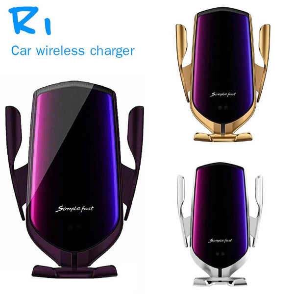 Vehicle Gravity Mobile Phone Universal Car Bracket Wireless Charger Automatic Clamping Fast Car Charging Phone Holder