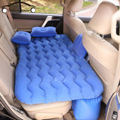Bymaocar Inflatable car mattress  outdoor camping inflatable bed PVC flocking Multifunctional Car inflatable bed car accessories
