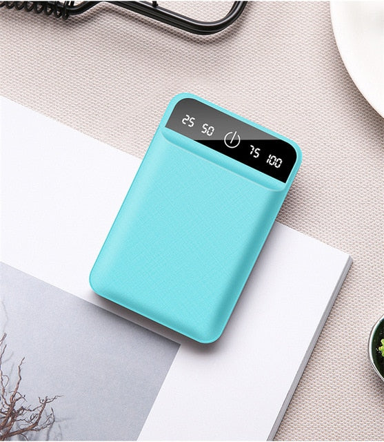 10000mAh Power Bank for iPhone 11 pro Xiaomi Redmi Powerbank External Battery Mobile Phone Portable Charger Dual USB Poverbank